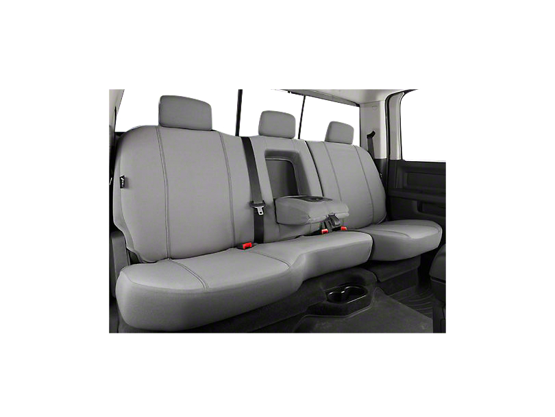 Fia Custom Fit Poly-Cotton Rear Seat Cover - Gray (07-13 Silverado 1500 Extended Cab, Crew Cab)
