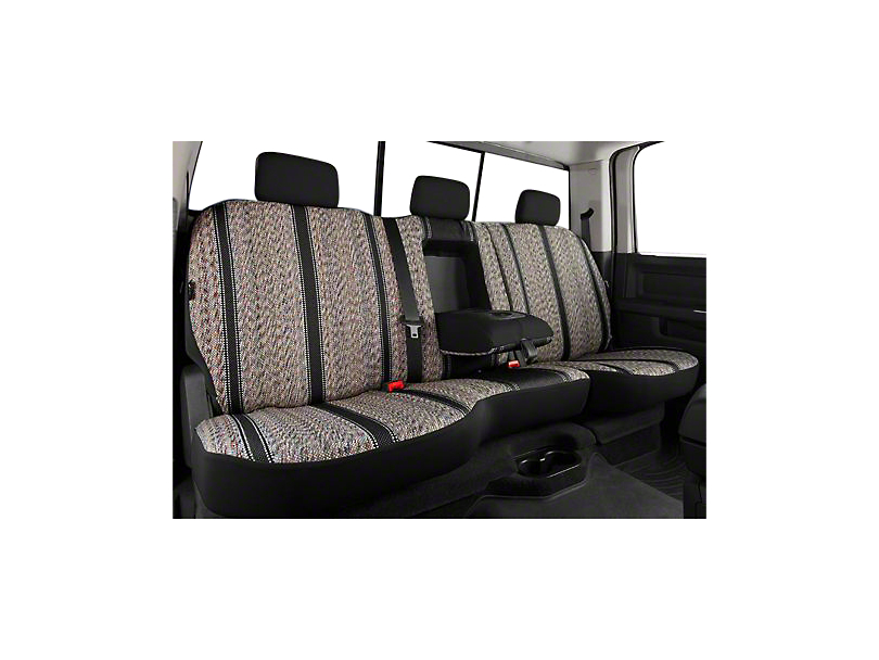Fia Custom Fit Saddle Blanket Rear Seat Cover - Black (07-13 Silverado 1500 Extended Cab, Crew Cab)