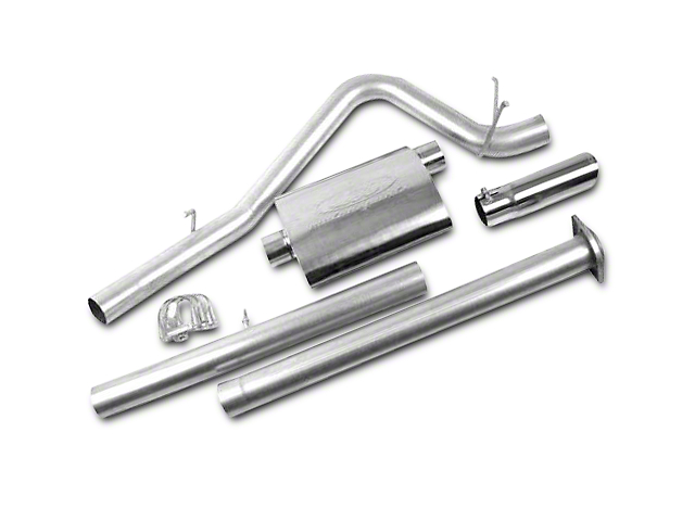 CGS Motorsports Stainless Single Exhaust System; Side Exit (07-08 6.0L Silverado 1500)