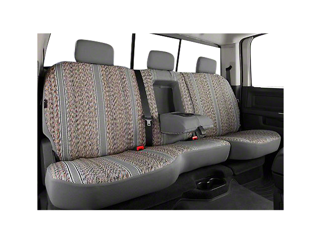 Fia Custom Fit Saddle Blanket Rear Seat Cover - Gray (07-13 Silverado 1500 Extended Cab, Crew Cab)