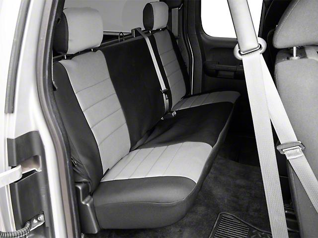 Fia Custom Fit Neoprene Rear Seat Cover - Gray (07-13 Silverado 1500 Extended Cab, Crew Cab)