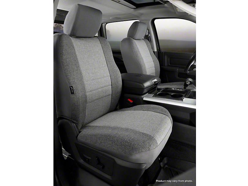Fia Custom Fit Tweed Front Seat Covers - Gray (14-18 Silverado 1500 w/ Bucket Seats)