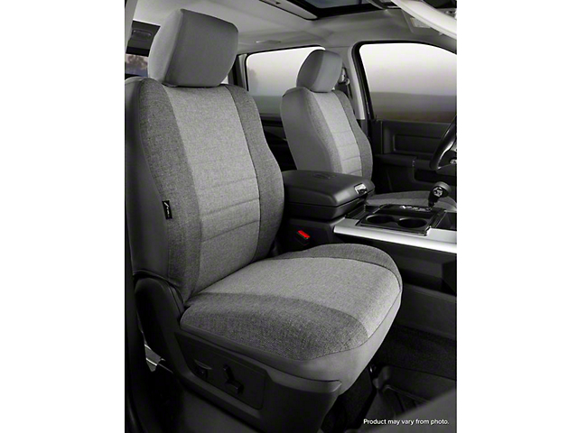 Fia Custom Fit Tweed Front Seat Covers; Gray (14-18 Silverado 1500 w/ Bucket Seats)