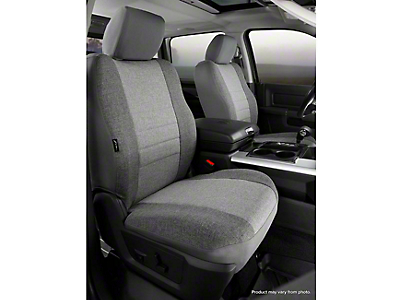 Fia Custom Fit Tweed Front Seat Covers - Gray (14-18 Silverado 1500 w/ Bucket Seats)