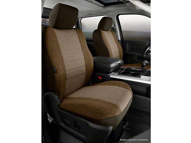 Fia Custom Fit Tweed Front Seat Covers - Taupe (14-18 Silverado 1500 w/ Bucket Seats)