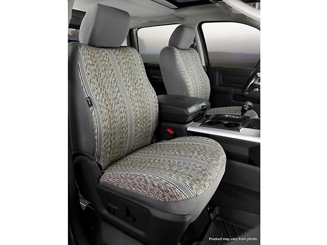 Fia Custom Fit Saddle Blanket Front Seat Covers - Gray (14-18 Silverado 1500 w/ Bucket Seats)