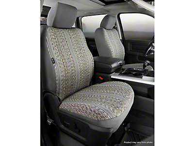Fia Custom Fit Saddle Blanket Front Seat Covers - Gray (14-18 Silverado 1500 w/ Bucket Seats)