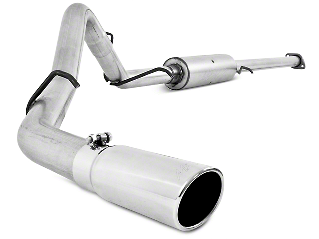 MBRP 3 in. Installer Series Single Exhaust System - Side Exit (07-09 6.0L Silverado 1500, Excluding Hybrid)