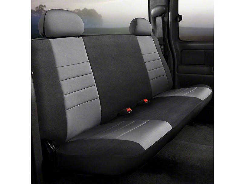 Fia Custom Fit Neoprene Rear Seat Cover - Gray (14-18 Silverado 1500 Double Cab, Crew Cab)