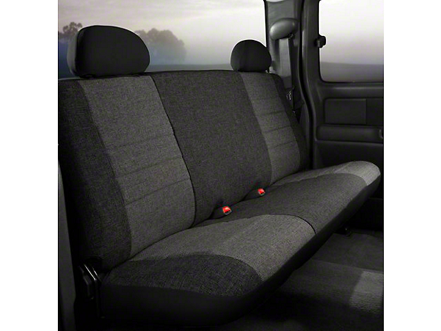 Fia Custom Fit Tweed Rear Seat Cover - Charcoal (14-18 Silverado 1500 Double Cab, Crew Cab)