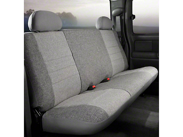 Fia Custom Fit Tweed Rear Seat Cover - Gray (14-18 Silverado 1500 Double Cab, Crew Cab)