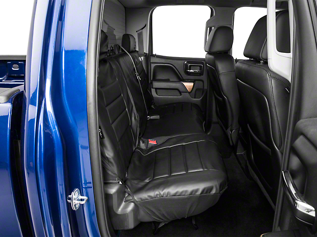 Fia Custom Fit Leatherlite Rear Seat Cover - Black (14-18 Silverado 1500 Double Cab, Crew Cab)