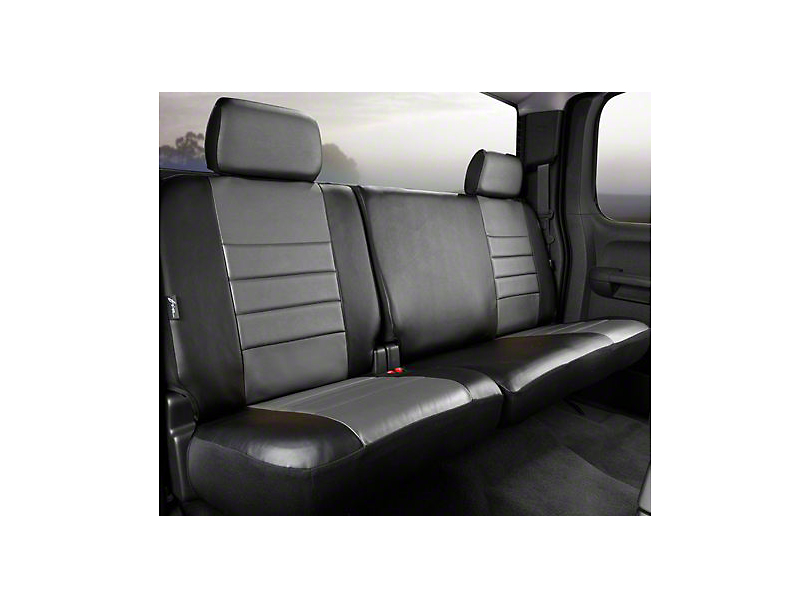 Fia Custom Fit Leatherlite Rear Seat Cover - Gray (14-18 Silverado 1500 Double Cab, Crew Cab)