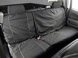 Fia Custom Fit Poly-Cotton Rear Seat Cover - Black (14-18 w/ 60/40 Split Bench Seat w/ Adjustable Headrests)