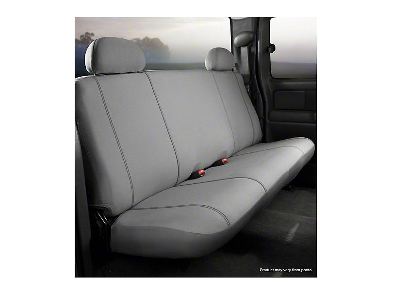 Fia Custom Fit Poly-Cotton Rear Seat Cover - Gray (14-18 Silverado 1500 Double Cab, Crew Cab)