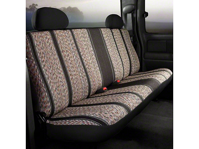 Fia Custom Fit Saddle Blanket Rear Seat Cover - Black (14-18 Silverado 1500 Double Cab, Crew Cab)