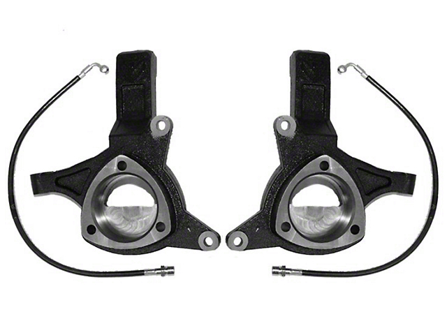 Max Trac 4.5 in. Lift Spindles w/ Extended Brake Lines (07-15 2WD Silverado/Sierra 1500 w/ Stock Cast Steel Control Arms)