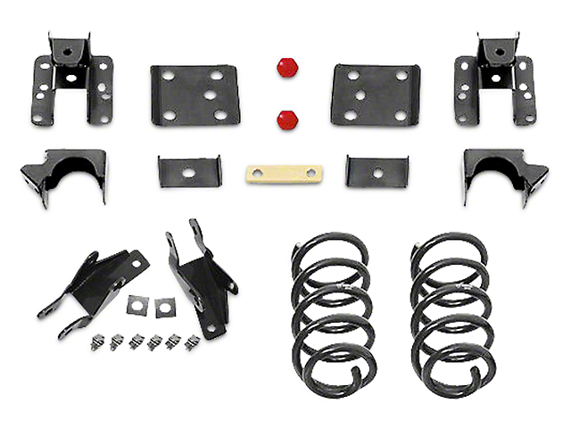 Max Trac Lowering Kit - 2 in. Front / 4 in. Rear (14-18 2WD/4WD Silverado 1500)