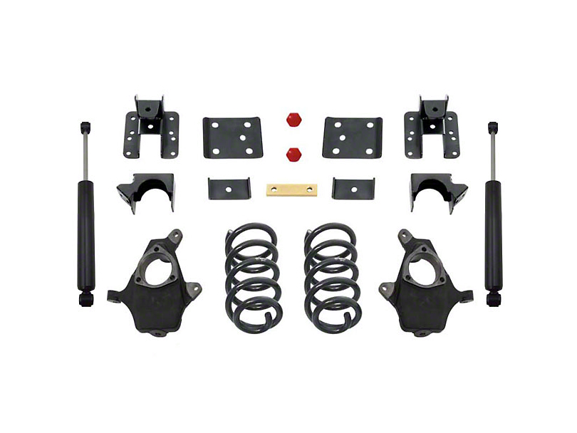 Max Trac Lowering Kit - 3 in. Front / 5 in. Rear (14-16 2WD/4WD Silverado 1500 w/ Stock Cast Steel Control Arms)