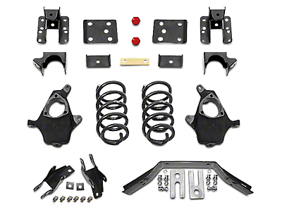 Max Trac Lowering Kit - 4 in. Front / 6 in. Rear (14-Early 16 2WD/4WD Silverado 1500 w/ Stock Cast Steel Control Arms)