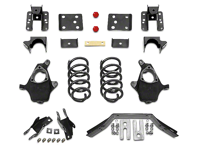 Max Trac Lowering Kit - 4 in. Front / 6 in. Rear (16-18 2WD Silverado 1500 w/ Stamped Steel Control Arms)