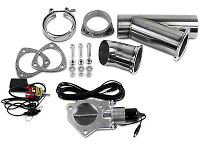GMS Electronic Exhaust Cutout Single System - 3 in. (07-17 Silverado 1500)