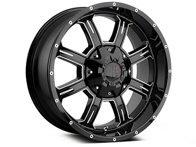 Havok Off-Road H101 Black Milled 6-Lug Wheel - 20x9 (99-18 Silverado 1500)