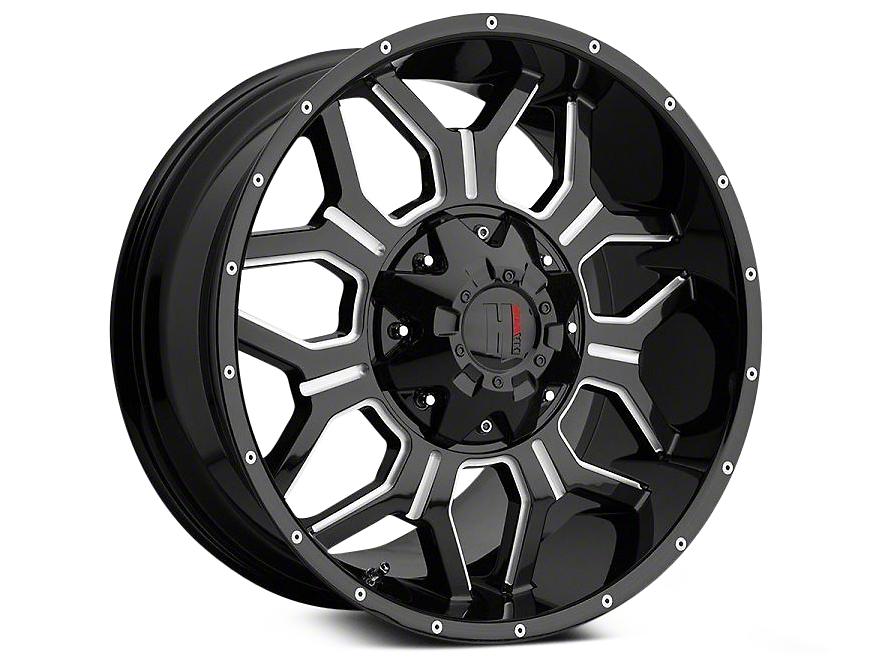 Havok Off-Road H106 Black Milled 6-Lug Wheel - 20x9 (99-18 Silverado 1500)