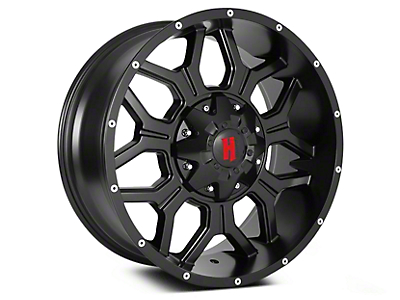 Havok Off-Road H106 Matte Black 6-Lug Wheel - 20x9 (99-18 Silverado 1500)