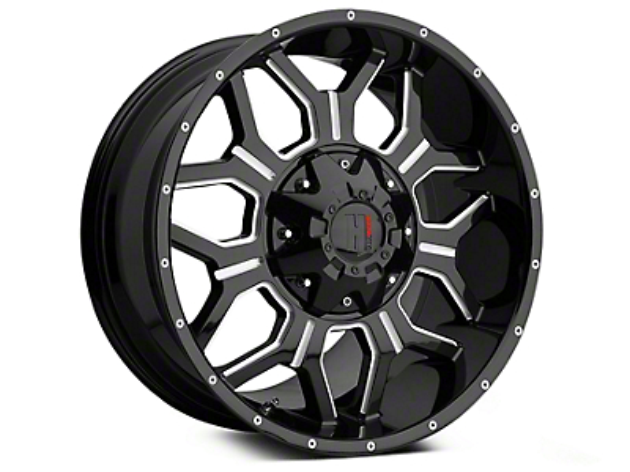 Havok Off-Road H106 Black Milled 6-Lug Wheel - 18x9 (99-18 Silverado 1500)