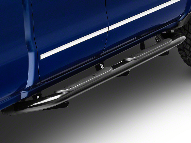Steel Craft 4 in. Blackout Series Side Steps - Body Mount (14-18 Silverado 1500 Double Cab)