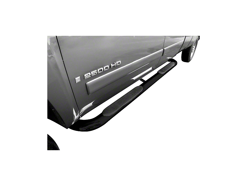 Steel Craft 4X Series 4 in. Oval Body Mount Side Step Bars - Black (04-13 Silverado 1500 Crew Cab)