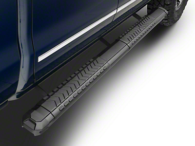 Steel Craft STX400 Aluminum Step Boards - Black - Rocker Panel Mount (14-18 Silverado 1500 Double Cab)