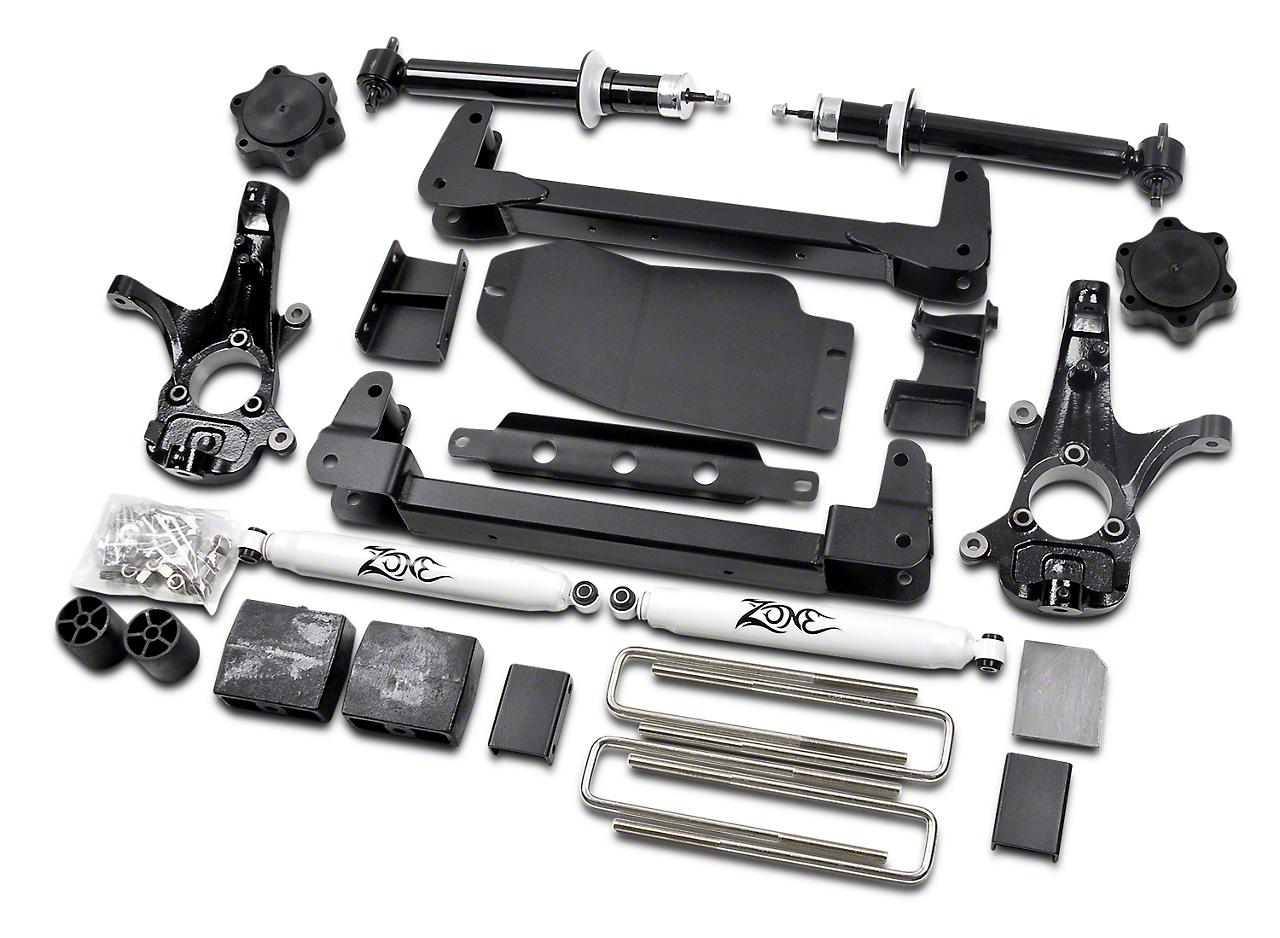 Zone Offroad 6.5 in. IFS Suspension Lift Kit w/ Shocks (07-13 4WD Silverado 1500, Excluding Hybrid)