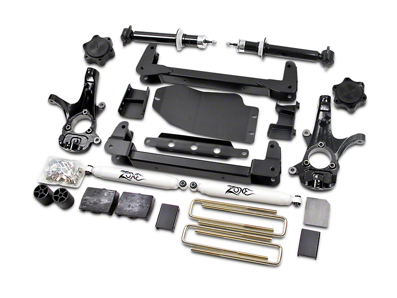 Zone Offroad 4.50-Inch IFS Suspension Lift Kit with Shocks (07-13 4WD Silverado 1500, Excluding Hybrid)