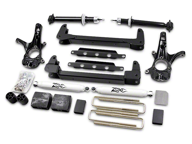 Zone Offroad 4.5 in. IFS Suspension Lift Kit w/ Shocks (07-13 2WD Silverado 1500)