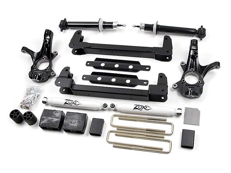 Zone Offroad 6.5 in. IFS Suspension Lift Kit w/ Shocks (07-13 2WD Silverado 1500, Excluding Hybrid)