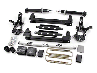 Zone Offroad 6.5 in. IFS Suspension Lift Kit w/ Shocks (07-13 2WD Silverado 1500, Excluding Hybrid)