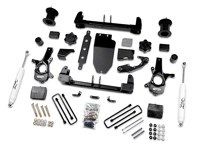 Zone Offroad 6.5 in. Suspension Lift Kit w/ Shocks (14-18 4WD Silverado 1500)