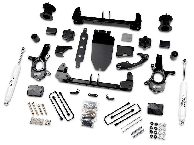Zone Offroad 4.5 in. Suspension Lift Kit w/ Nitro Shocks (14-18 4WD Silverado 1500)