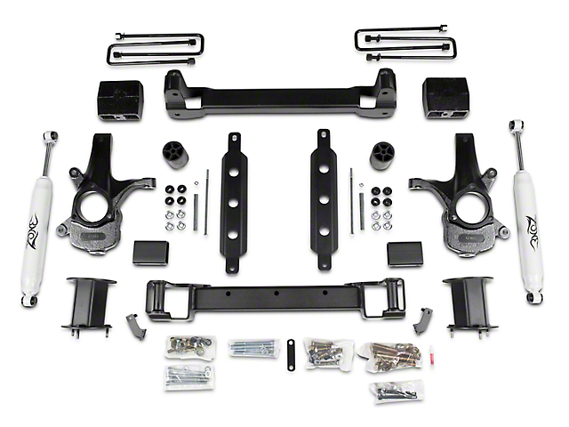 Zone Offroad 6.5 in. Suspension Lift Kit w/ Shocks (14-18 2WD Silverado 1500)