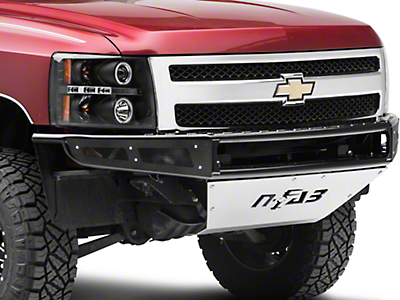 N-Fab M-RDS Radius Pre-Runner Front Bumper w/ Multi-Mount for LED Lights - Gloss Black (07-13 Silverado 1500)