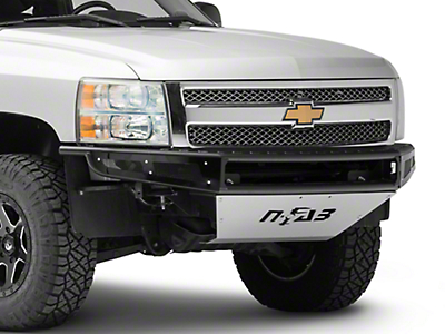 N-Fab M-RDS Radius Pre-Runner Front Bumper w/ Multi-Mount for LED Lights - Textured Black (07-13 Silverado 1500)