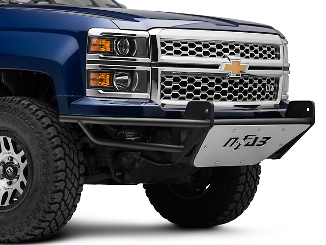 N-Fab R.S.P. Pre-Runner Front Bumper for One 38 in. Rigid LED Lights - Textured Black (14-15 Silverado 1500)