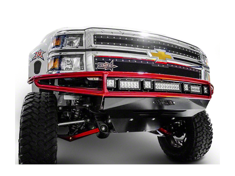 N-Fab M-RDS Radius Pre-Runner Front Bumper w/ Multi-Mount for LED Lights - Gloss Black (14-15 Silverado 1500)