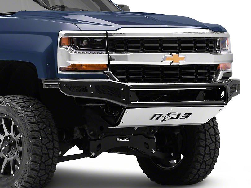 N-Fab M-RDS Radius Pre-Runner Front Bumper w/ Multi-Mount for LED Lights - Gloss Black (16-18 Silverado 1500)