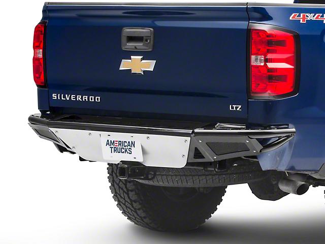 N-Fab R.B.S. Pre-Runner Rear Bumper w/ Skid Plate - Gloss Black (14-18 Silverado 1500)