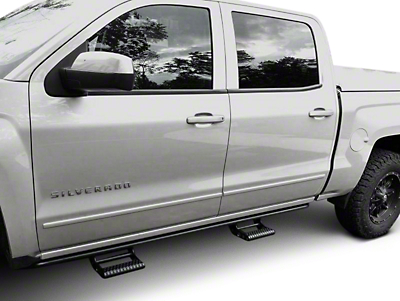 N-Fab Cab Length RKR Side Rails - Textured Black (14-18 Silverado 1500 Crew Cab)