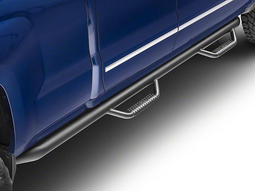 N-Fab Wheel 2 Wheel Nerf Side Step Bars - Textured Black (14-18 Silverado 1500, Excluding Regular Cab w/ Long Box)