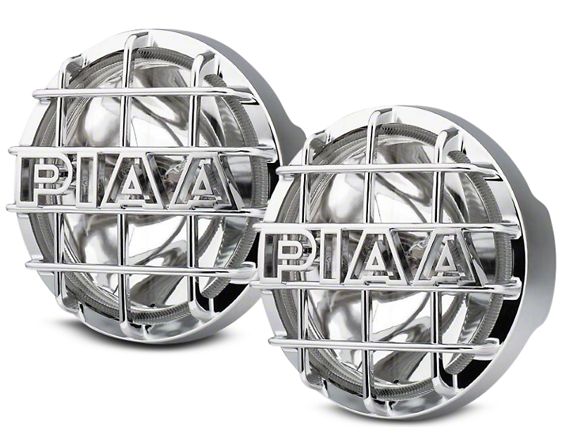 PIAA 520 Series 6 in. Round Chrome SMR Halogen Lights - Driving Beam - Pair